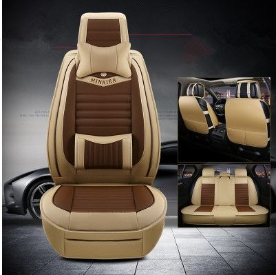 Tan Leather Look Car Seat Covers Cover Set For BMW 5 Series GT 2009-2017