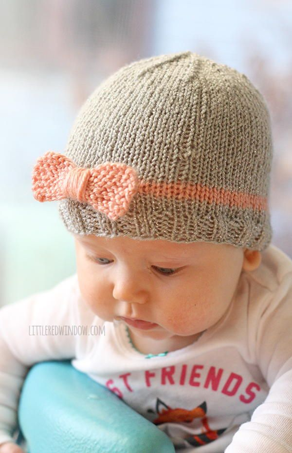 Bow Baby Hat | Baby hats, Babies and Baby knitting