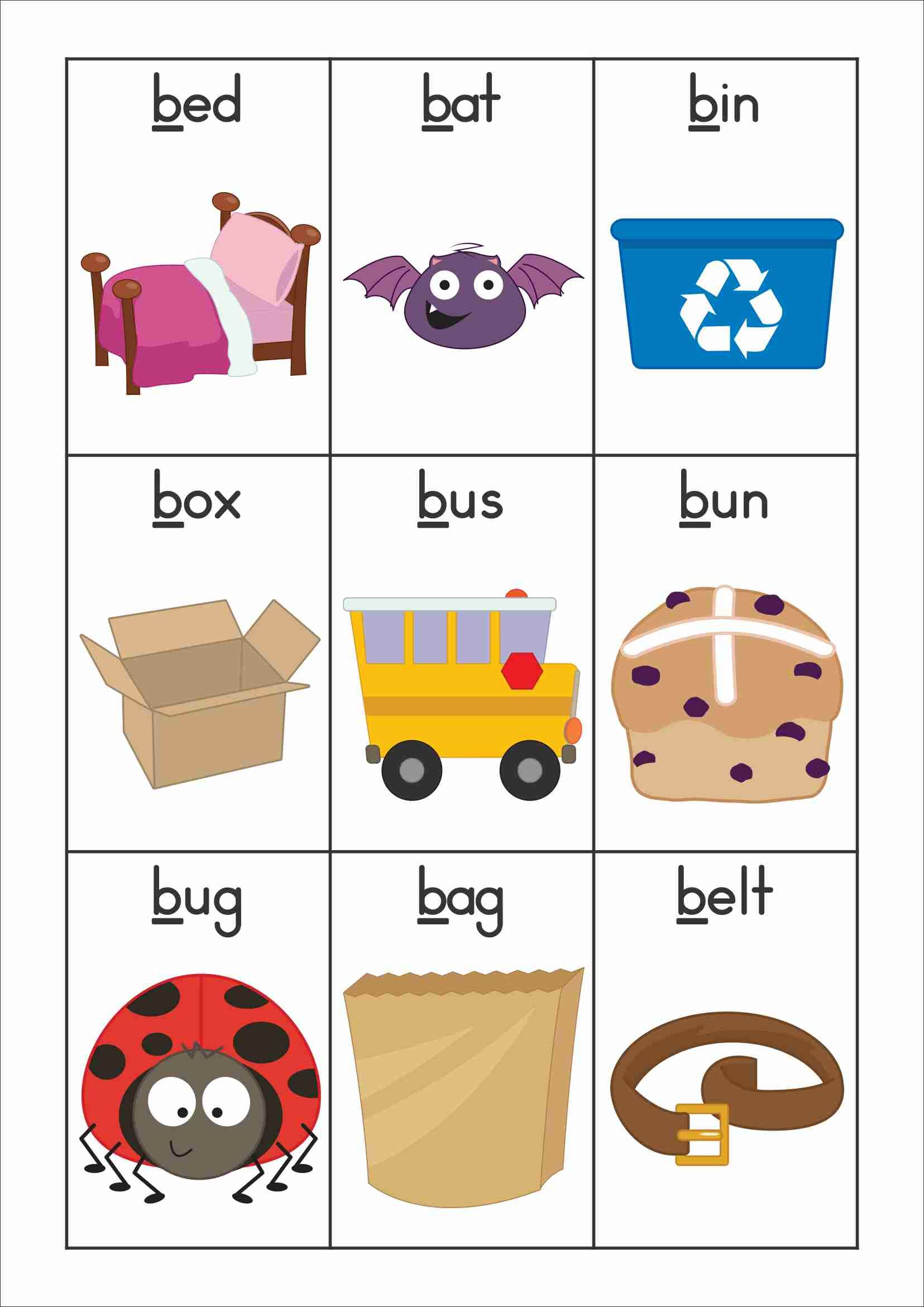 45 Phonics Vocabulary Worksheets
