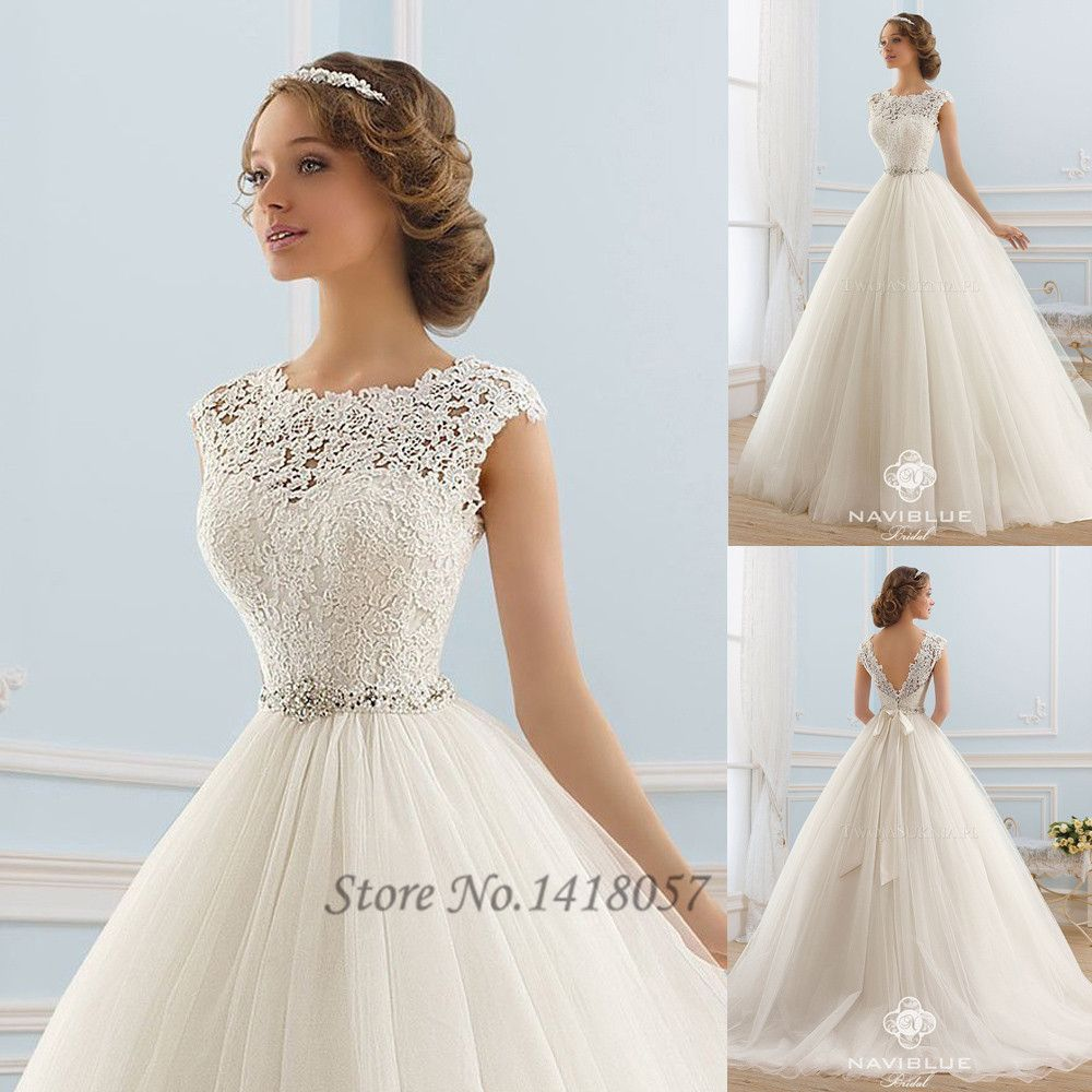 Vintage boho wedding dress princess lace bride dresses v back