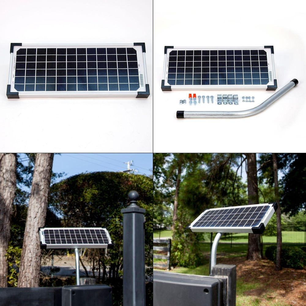 Mighty Mule Fm123 10 Watt Solar Panel Kit For Electric Gate Opener Solar Panel Kits Best Solar Panels Solar Energy Panels