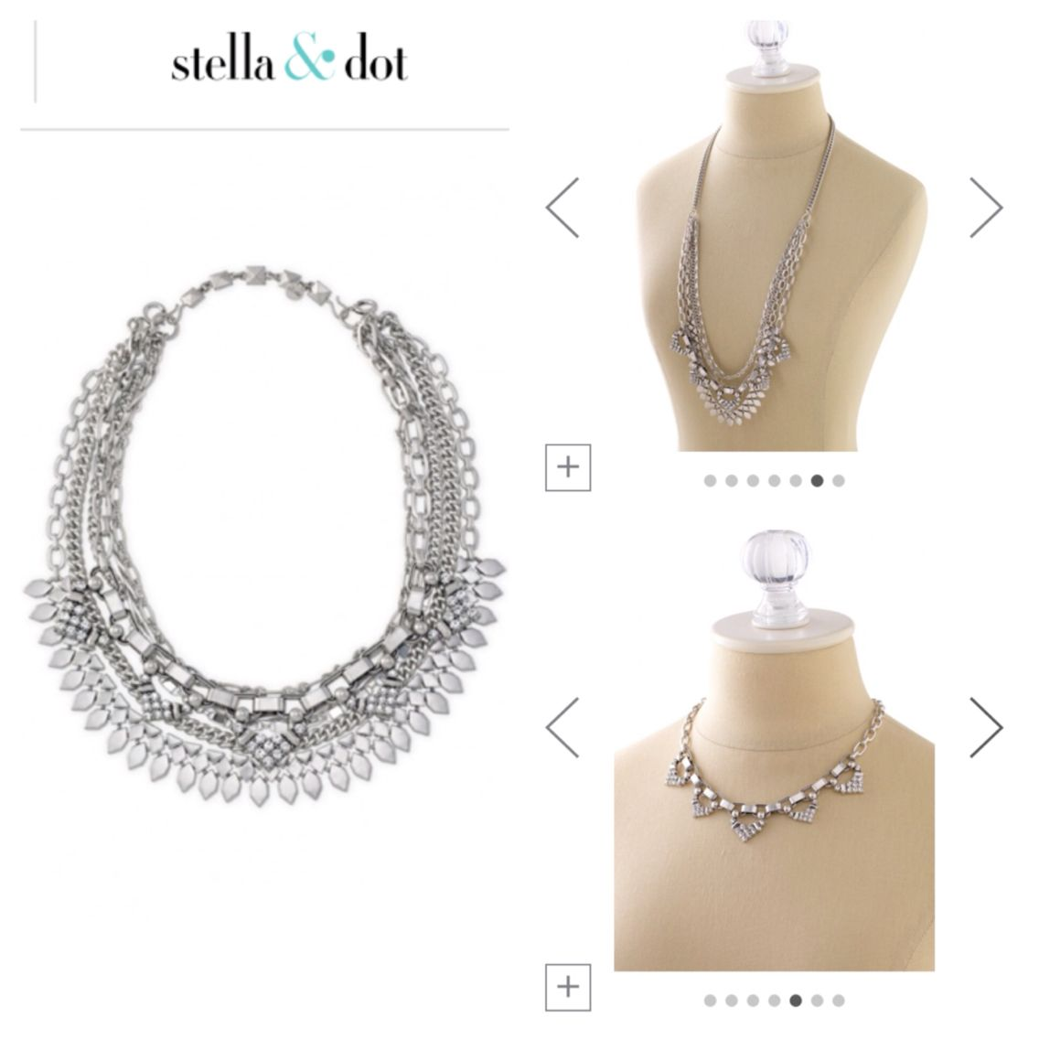 Sutton in silver, can be worn multiple ways. Stella & Dot