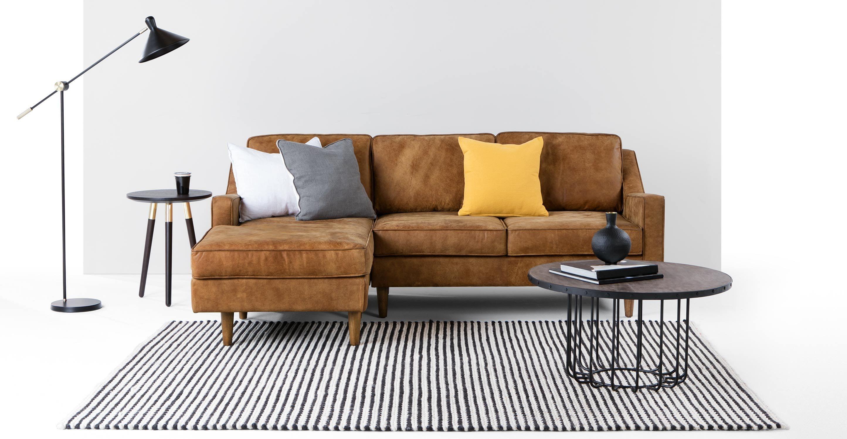 Vintage eck sofa  Dallas Ecksofa (Récamiere links), Vintage-Premium-Leder in Hellbraun ...