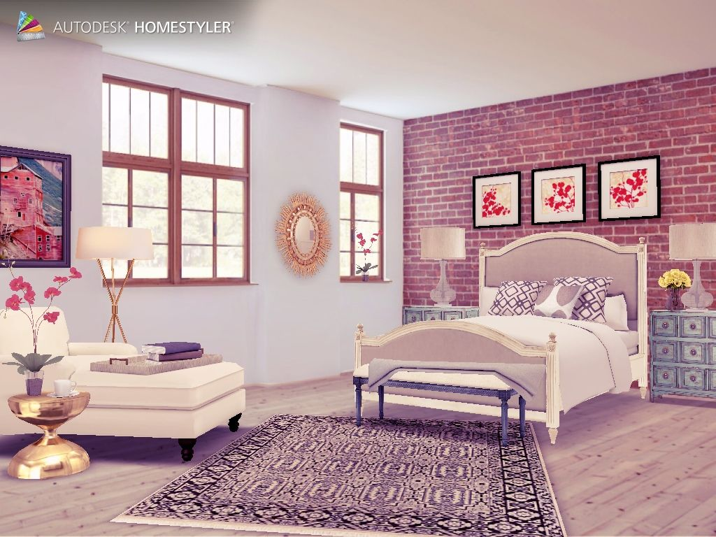 "Check out my #interiordesign ""Loft bedroom"" from #Homestyler http://autode.sk/1bJC3pO"