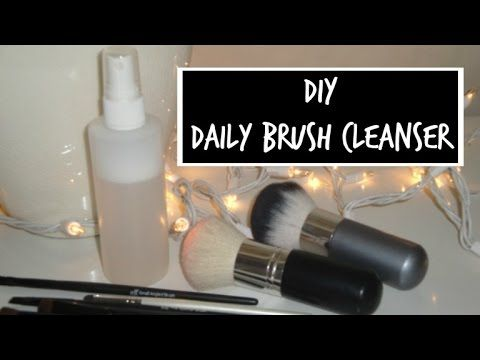 DIY Daily Brush Cleanser- Clean those brushes- frugal!!!