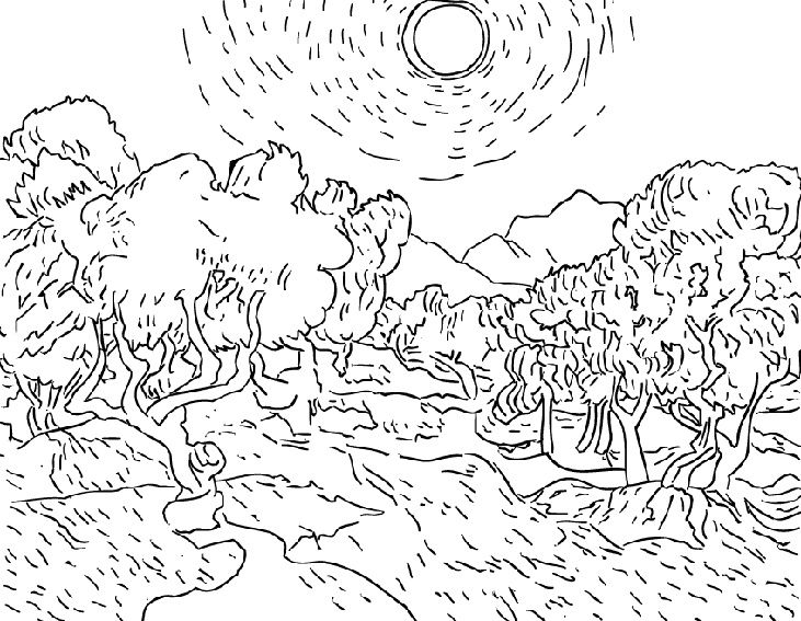 Sunflower Coloring Page Van Gogh   sunflower coloring page van ...