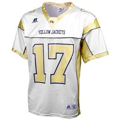 Russell Georgia Tech Yellow Jackets  17 Replica Football Jersey - White   GaTech 29f7ce955