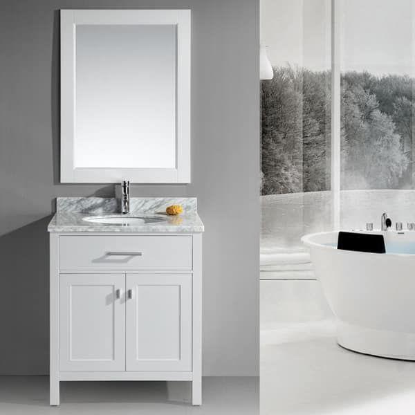 Design A Bathroom Vanity Online Awesome Design Element London 30Inch Single Sink White Bathroom Vanity 2018
