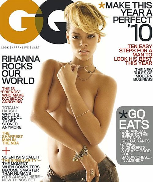 gq cover pic Rihanna nude