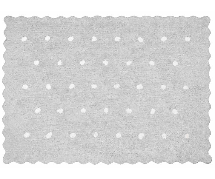 aratextil teppich kinderzimmer kinderteppich punkte topitos grau teppiche waschbar. Black Bedroom Furniture Sets. Home Design Ideas