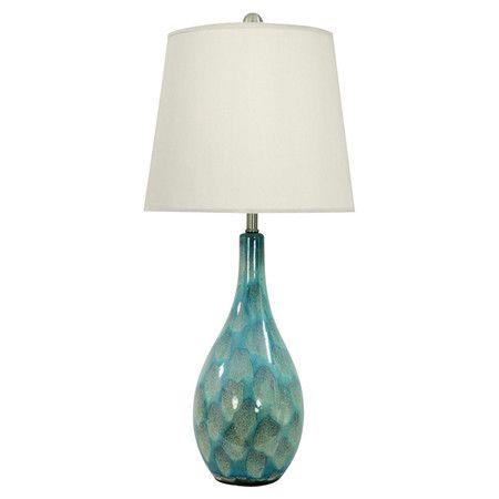 Found it at Wayfair - Zuri Table Lamp in Teal (Set of 2)http://www.wayfair.com/daily-sales/p/The-Rustic-Chic-Style-Shop-Zuri-Table-Lamp-in-Teal-%28Set-of-2%29~EHQ3199~E12891.html?refid=SBP.rBAZEVQIxm0YSVxNR1cqAigxTj7OGEfBub3z87Abxgo