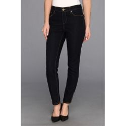 Anne Klein - Leo Skinny Ankle w/ Exposed Zipper in Dark Rinse Wash (Dark Rinse Wash) - Apparel - product - Product Review