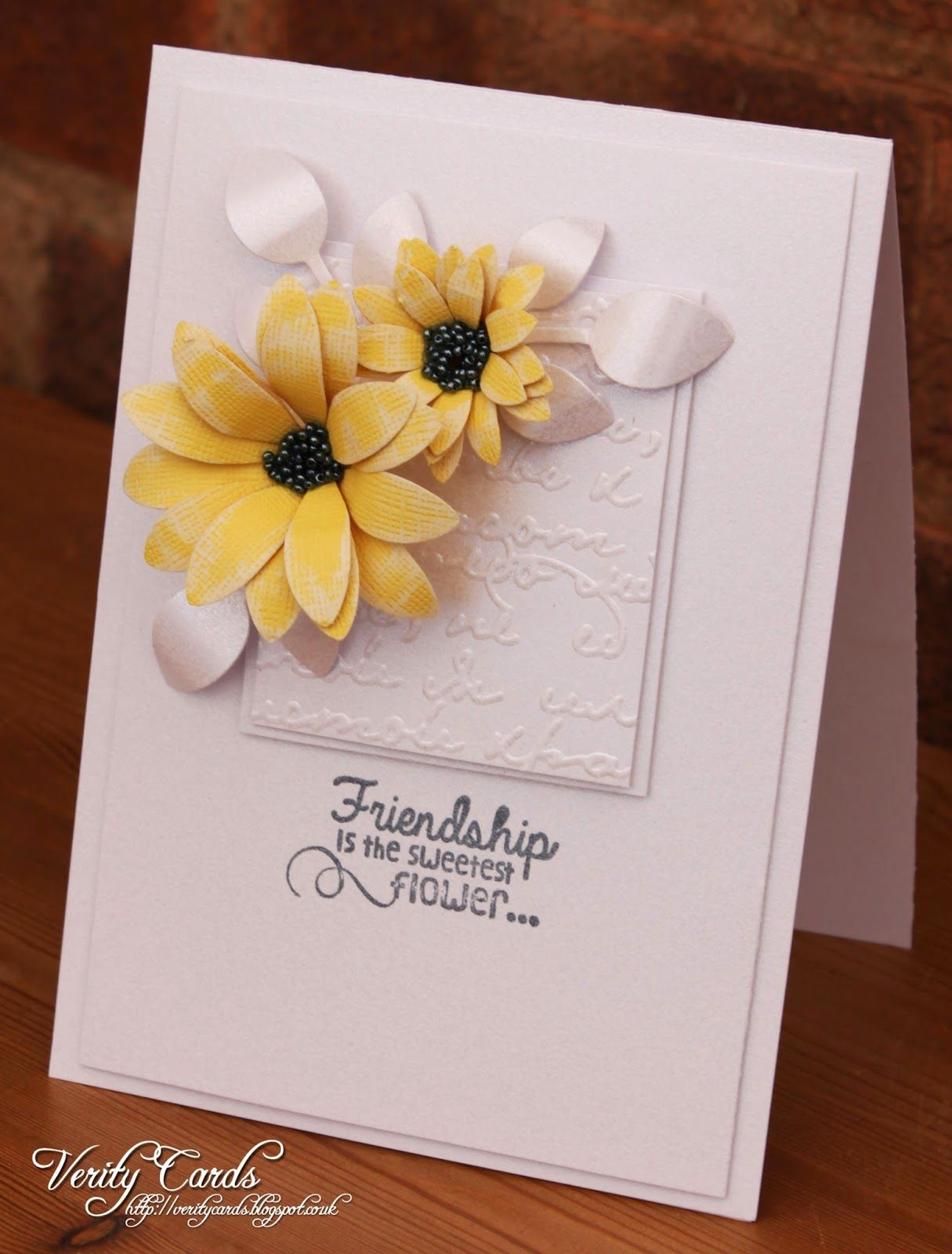 Cas card by liz walker friendship is the sweetest flower cards i