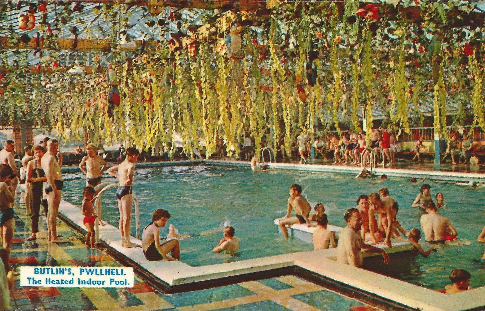 The Heated Indoor Pool At Butlinu0027s Pwllheli Holiday Camp In 1966.