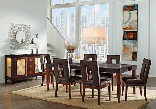 Sofia Vergara Savona Chocolate 5 Pc Rectangle Dining Room Formal Dining Room Sets Dining Room Design Dining Room Sets