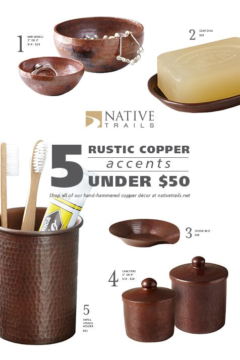 Add Our Hand Hammered Copper Decor To Your Home For Under 50