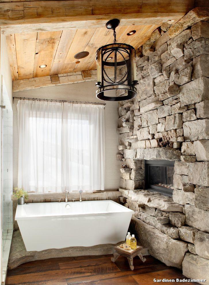 Gardinen Badezimmer with Moderne Klassik Badezimmer - Badezimmer - badezimmer steinwand