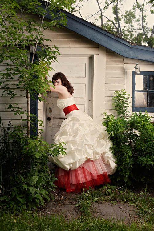 Rockabilly Wedding Dress White And Red Rockabilly Wedding