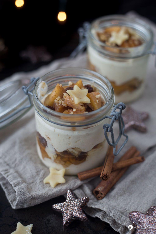 Bratapfel Tiramisu mit Spekulatius - Dessert Idee für Weihnachten - Rezept #nachtischweihnachten