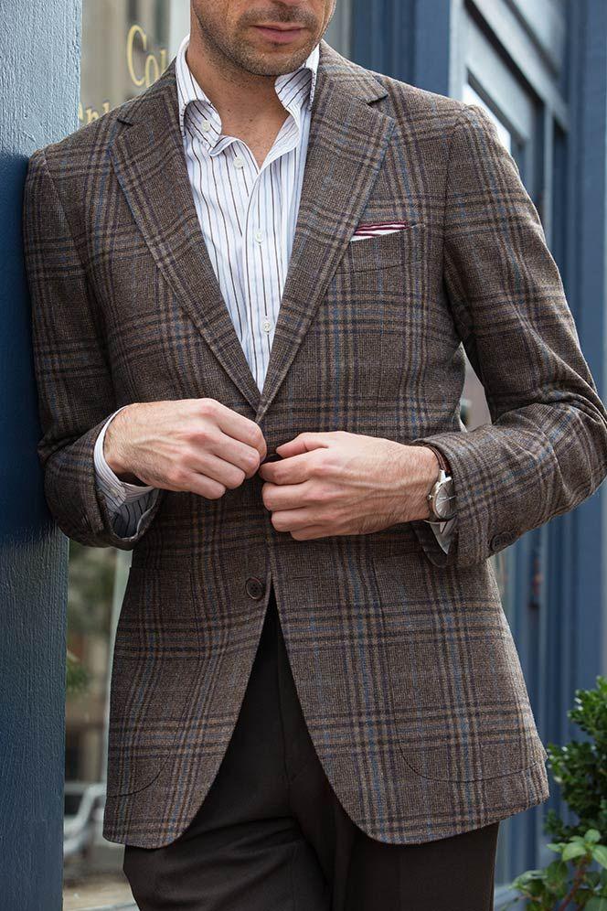 098339a9fff1 Plaid Mens Blazer - Fall Mens Outfit Ideas   D E T A I L S   Blazer ...