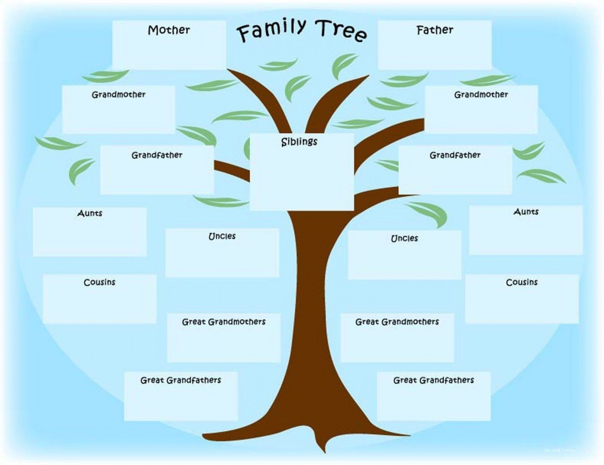 Complete Free Printable Family Tree Chart Kids Printable Family Tree Chart With Siblings Family Tr Family Tree Printable Family Tree Template Family Tree Chart