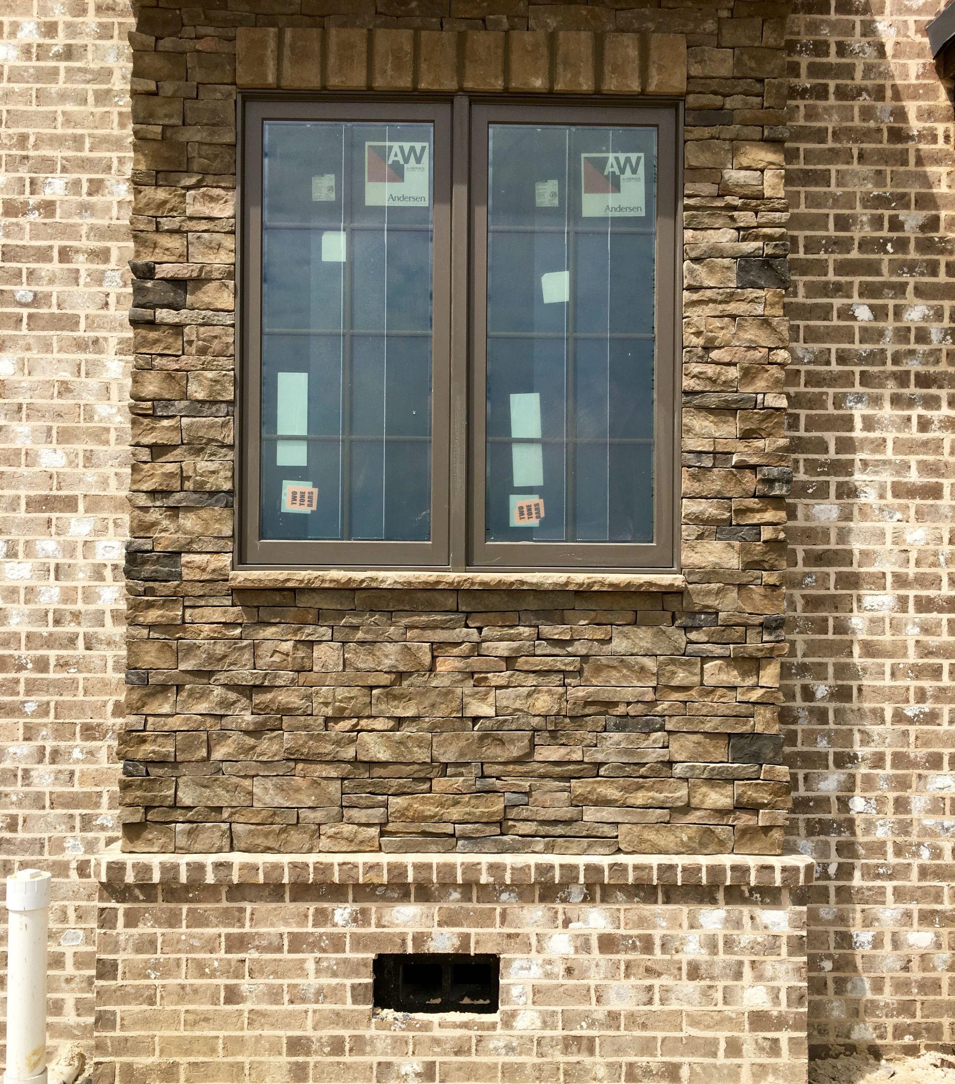 Magnolia Ridge Brick With Ivory Buff Coosa Mortar With Suncrest