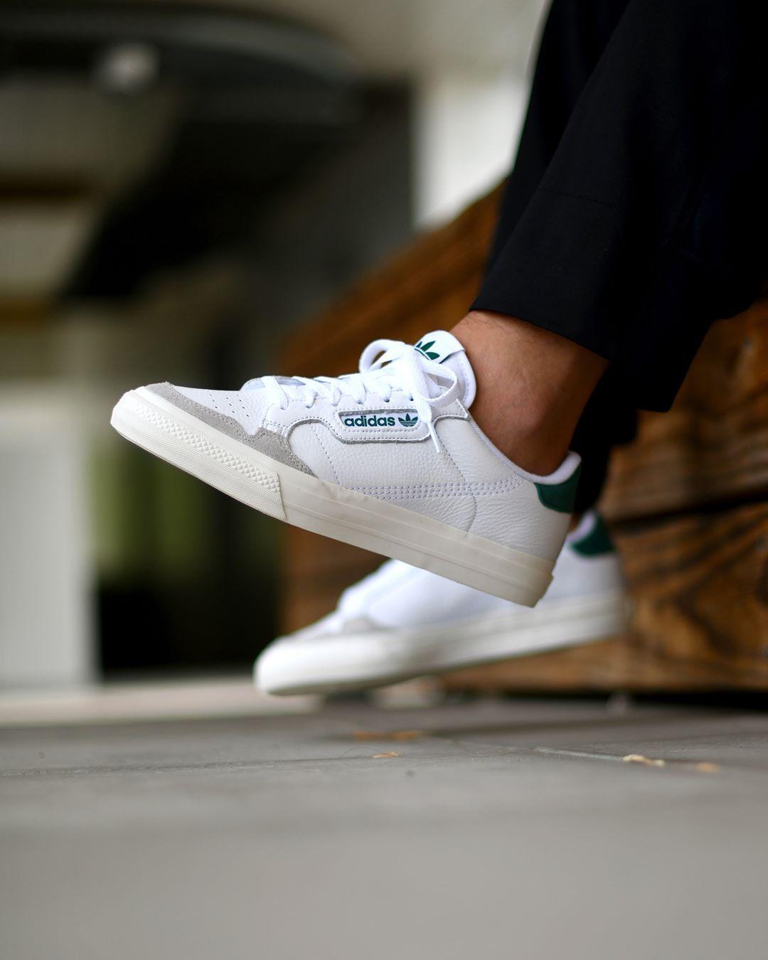 adidas Continental Vulc White Green