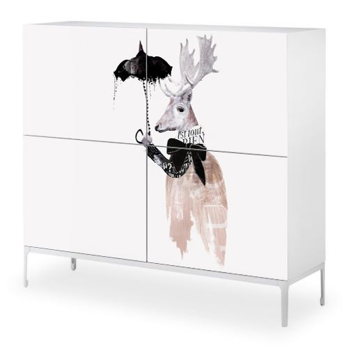 pictures to cover Ikea furniture - could be fun!