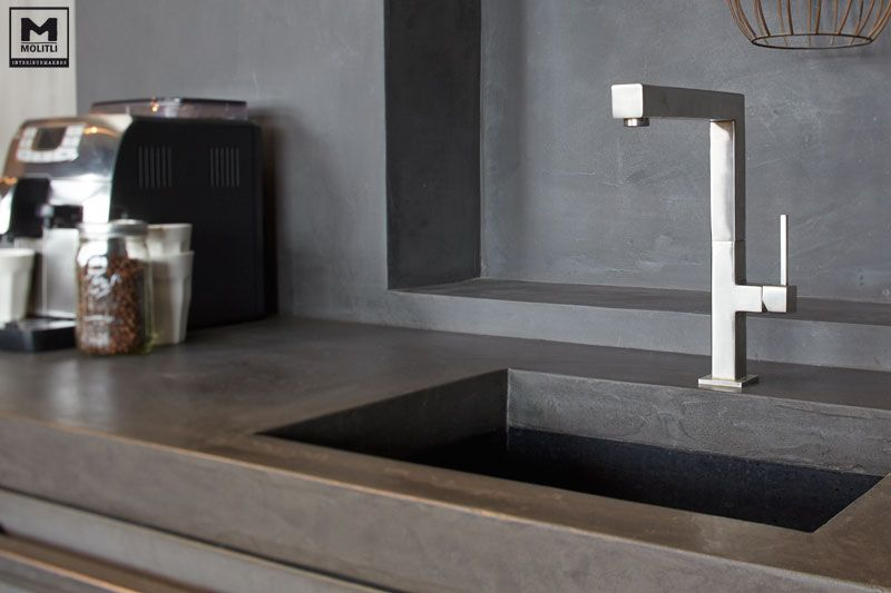 Gepolijst Beton Keuken Molitli Kitchen, Cement And Steel | Kitchening | Keuken