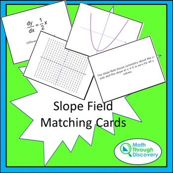 Slope Field Matching Cards | Calculus Activities | Calculus, Ap