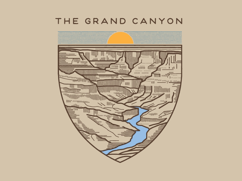 Sevenly The Grand Canyon Travel design, Tattoo graphic