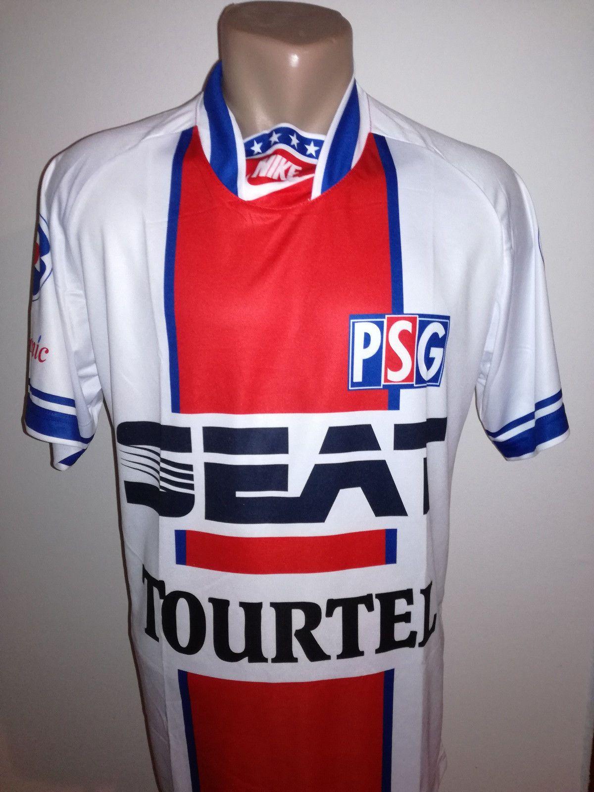 7f07140e6 Details about PSG Retro Football Jersey France Soccer Shirt WEAH Camiseta  Mailot Maglia Paris