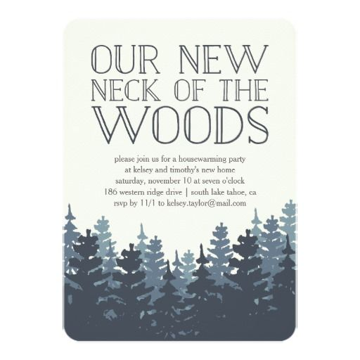 Winter Forest Housewarming Party Invitation More
