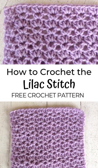 Lilac Stitch—FREE Crochet Pattern #crochetstitches