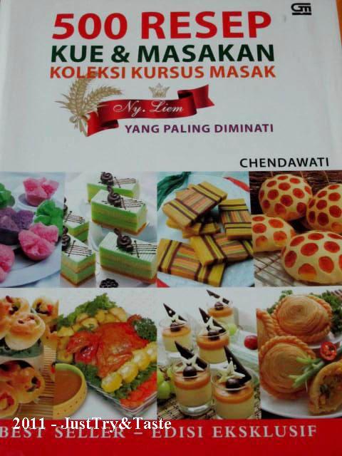 Review Buku 500 Resep Kue Masakan Koleksi Kursus Masak Ny Liem Yang Paling Diminati Oleh Chendawati Resep Kue Makanan Manis Kue