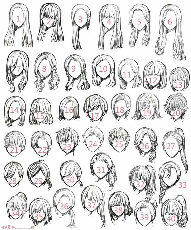 Pin By Idy Usah On Hair Drawing Hair Tutorial Girl Hair Drawing Art Reference Poses