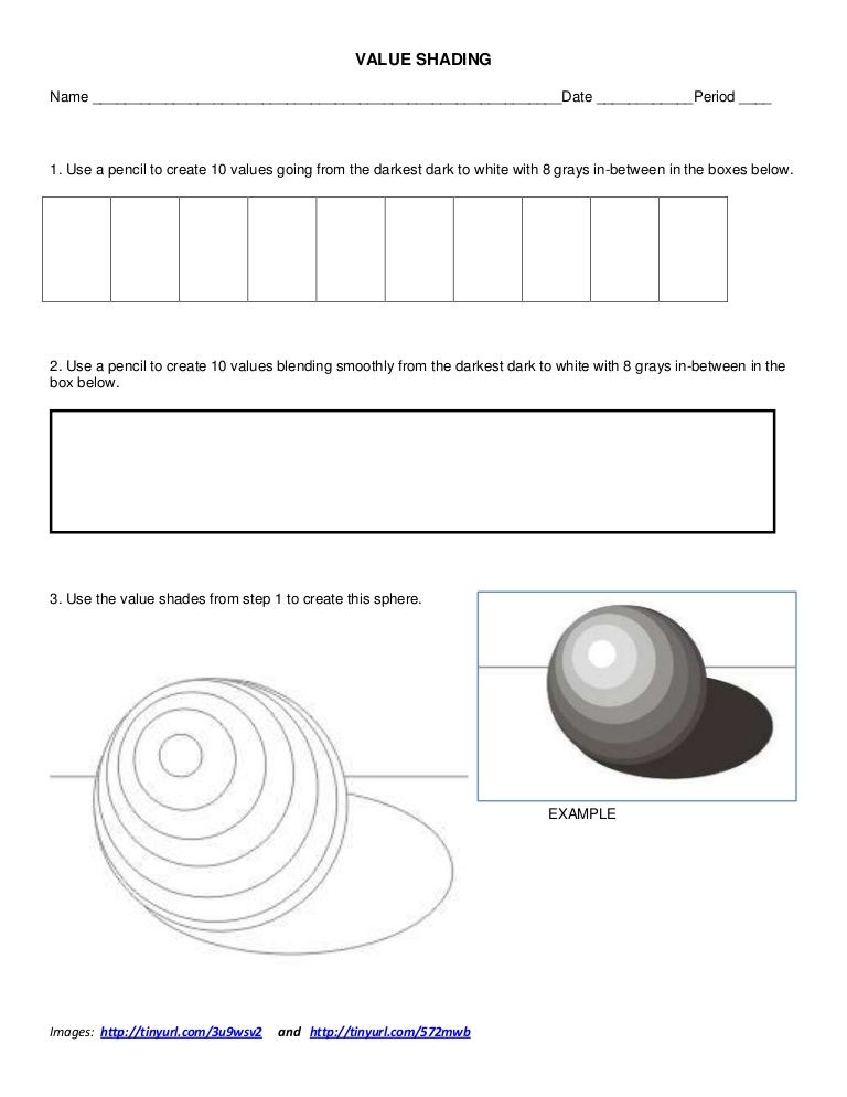 value-shading-worksheet by ksumatarted via Slideshare | Art Lessons ...