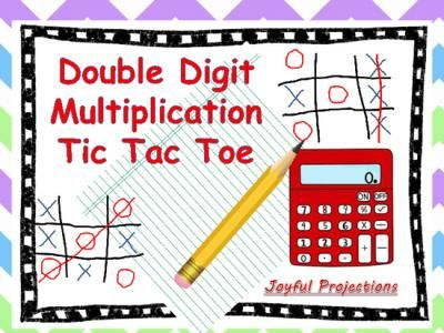 FREE Double Digit Multiplication Tic Tac Toe from - sample tic tac toe template