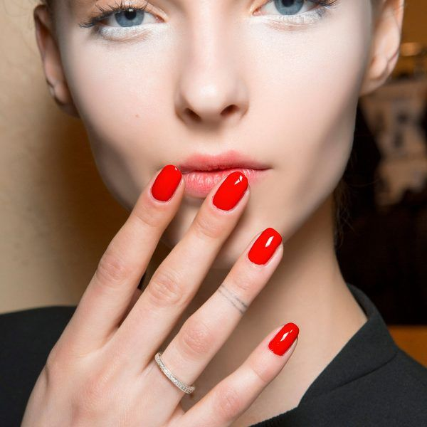 Fire-Engine Red - Bold, cherry red will always be a classic when it comes to nail color options. Try the bright, sexy hue on your next dateto make a flirty statement.