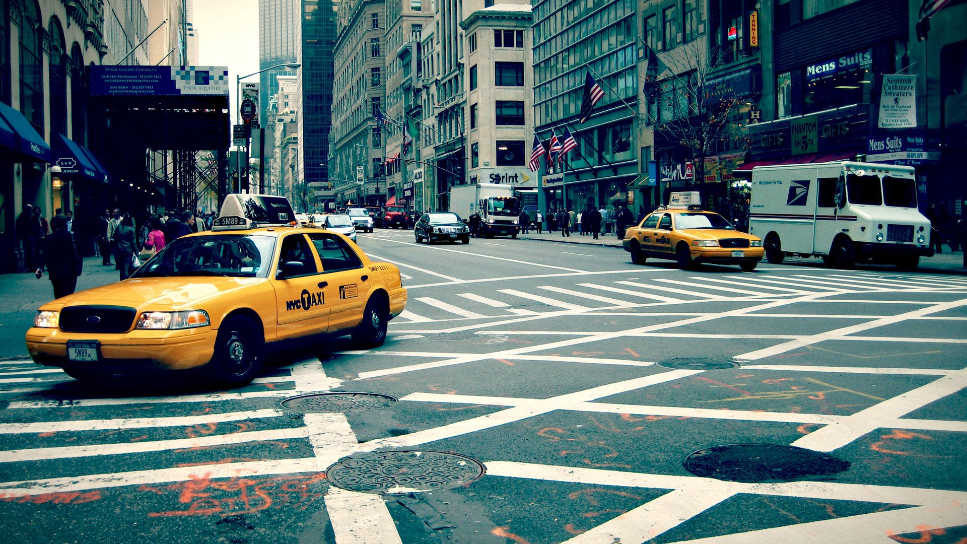 New York Street HD Wallpaper