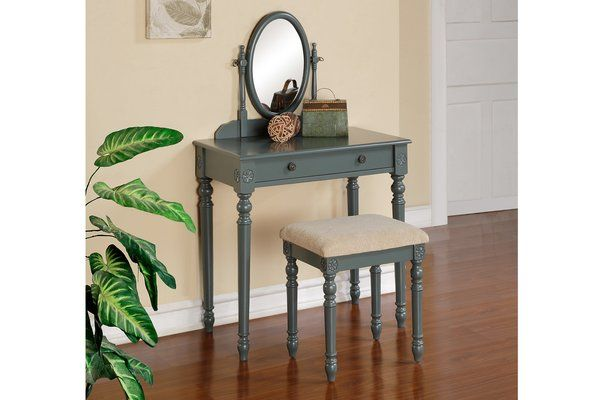 GC4075 Vanity w/ Stool GC Furniture LA Beautiful Vanity\u0027s - Bedroom Vanity Table