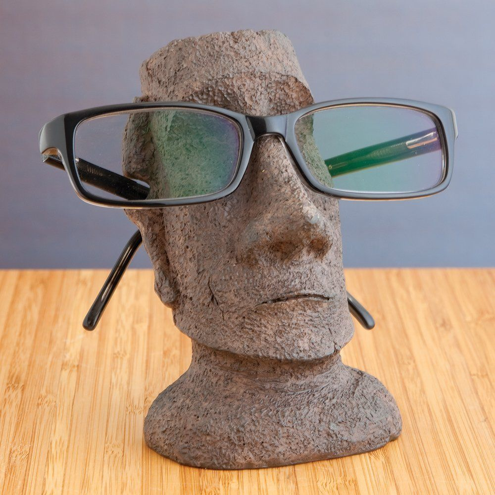 719f4dffcd5 Amazon.com  Bits and Pieces - Stone Face Eyeglass Holder Statue - Desktop  Sculpture Hilariously Holds Your Glasses  Home   Kitchen