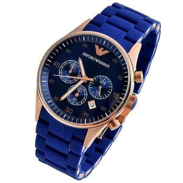 57c6c5b4c Emporio Armani Chronograph Blue Dial Chain Men s Watch Price In Pakistan.  http