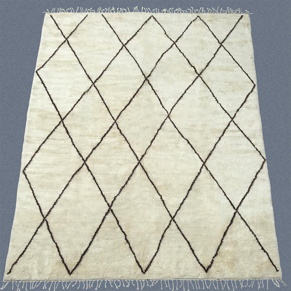 Beni Ouarain Bo143 Brown Diamond Bohemian Style Design Diamond Design