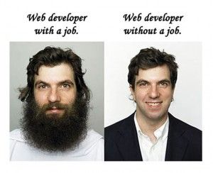 web developer with and without a job!
