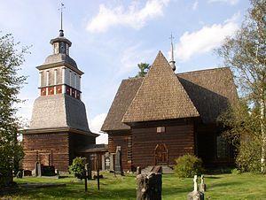 Petäjävesi Old Church (Finnish: Petäjäveden vanha kirkko) is a wooden church located in Petäjävesi, Finland