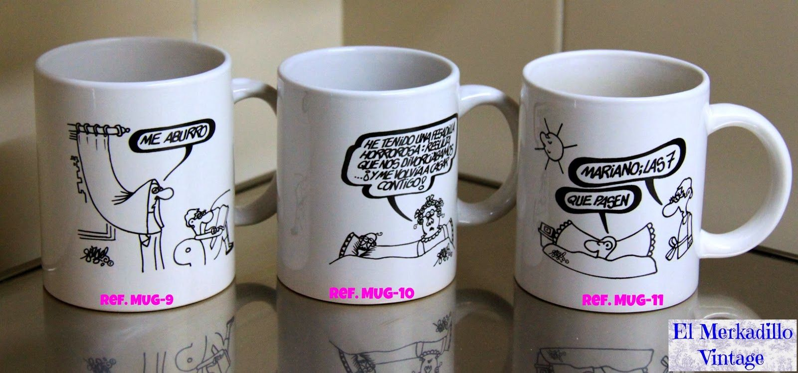 Tazas de cerámica con dibujos de Forges ¡ VENDIDO !   El Merkadillo ...