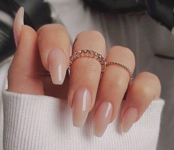 Medium/long coffin acrylic nails; Glitter Nails, Nägel, Pink