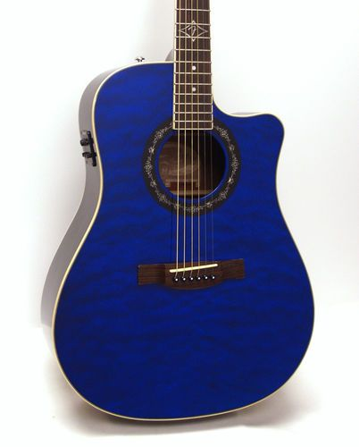 fender t bucket 300ce dreadnought cutaway acoustic electric guitar trans blue ebay guitars. Black Bedroom Furniture Sets. Home Design Ideas