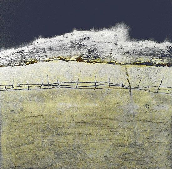 Contemporary abstract landscape painting white cliffs ii for Wax landscape